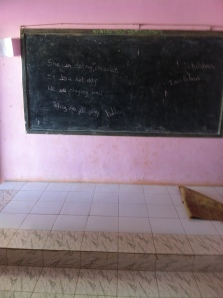 Inside the classroom where the project will take place!