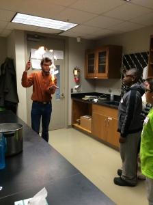 Alex demonstrates how vapor is flammable, but not liquids